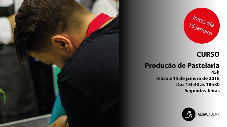 Curso de Produção de Pastelaria - 45h | Início a 15 de janeiro