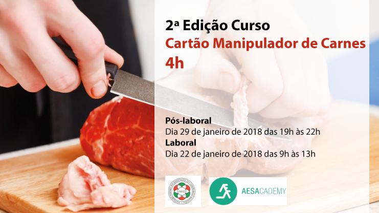 2ª Edição Curso Cartão Manipulador de Carnes | 4h