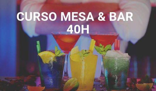 Curso Mesa e Bar | 40h