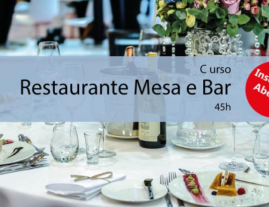 Curso Técnico de Restaurante: Mesa e Bar 45h