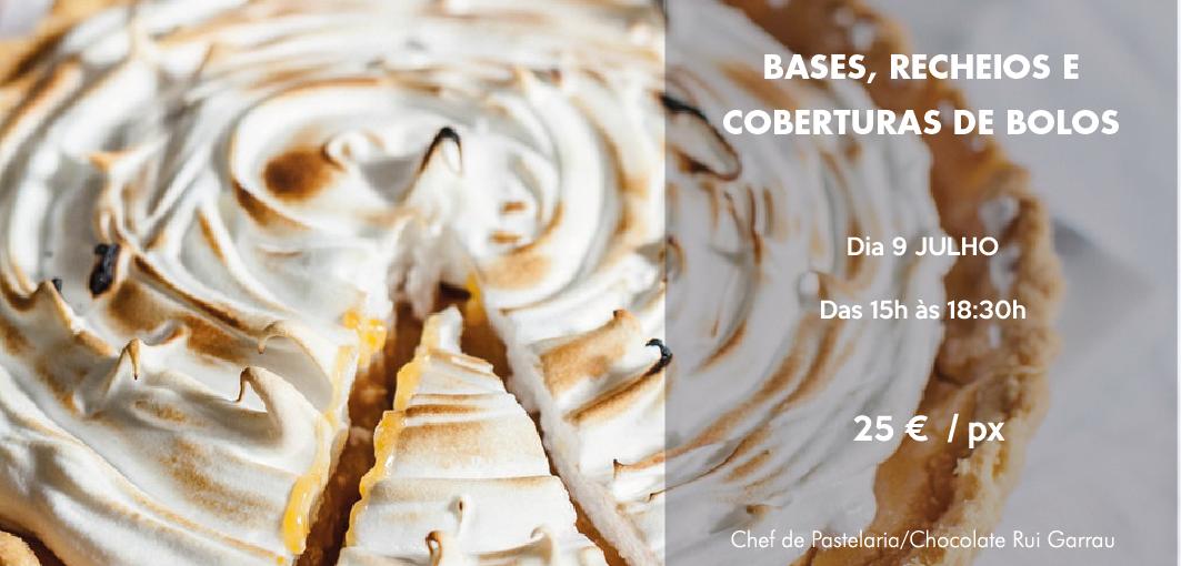 Workshop de bases, recheios e coberturas de pastelaria