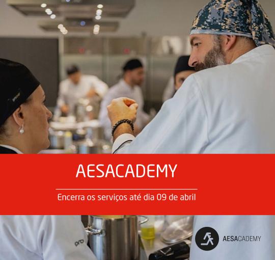 Aesacademy encerra os serviços até dia 09 de abril