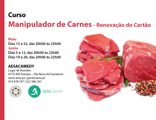 Curso Manipuladores de Carnes - Renovação Cartão