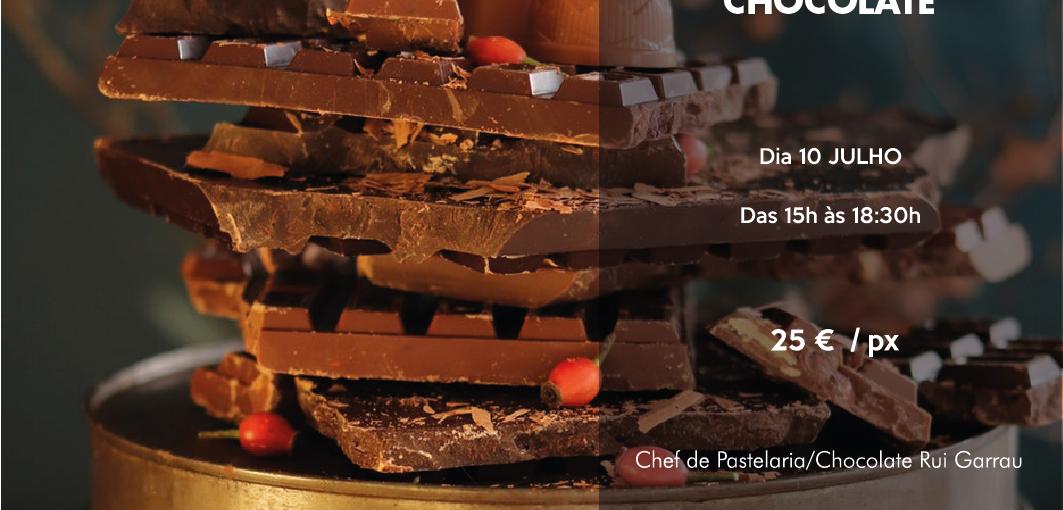 Workshop de chocolate, ganaches, técnicas de temperagem e decoração