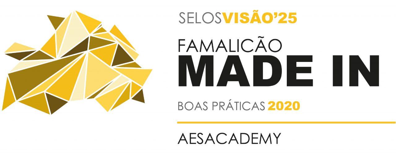 AESACADEMY distinguida com Selo Famalicão Visão'25 - 2020